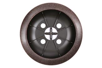 Drain cover component in oil rubbed bronze.