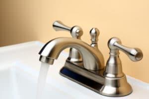 brushed nickel faucet